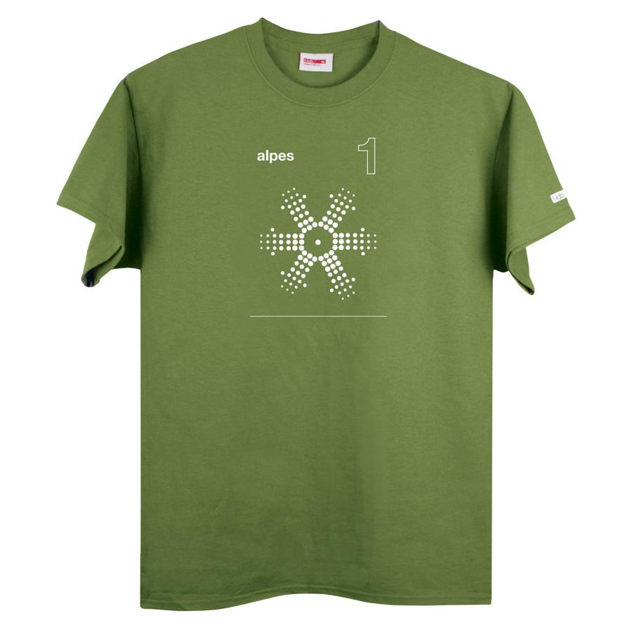 Alpes 1 green t-shirt