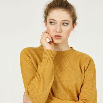 T-lab Alana womens sweater citrus model crop square