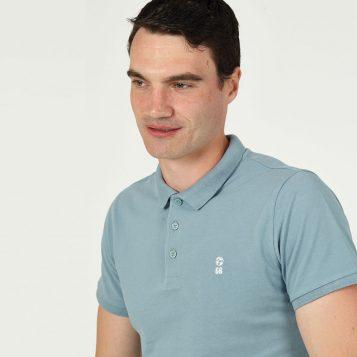 T-lab 66 Mens football polo shirt blue