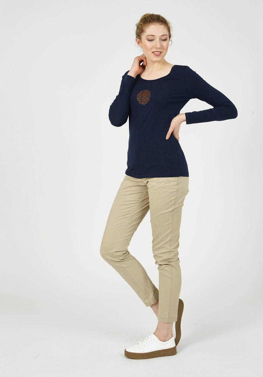 T-lab Coffee Bean womens t-shirt model full 2