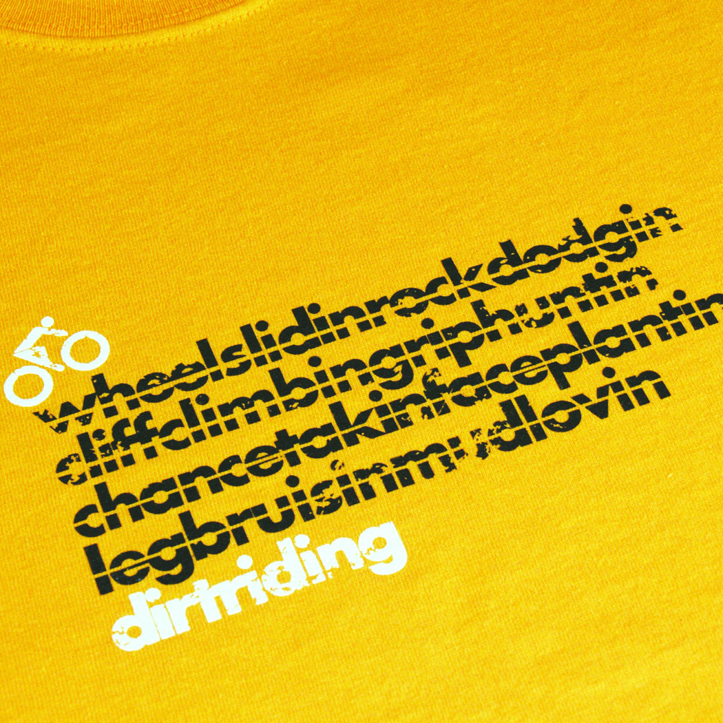 T-lab DirtRider cycling t-shirt gold