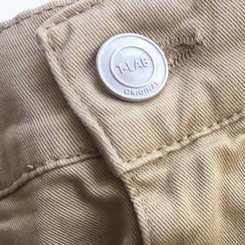 T-lab Bude mens jeans sand button