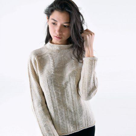 T-lab Alpina womens knitwear cream