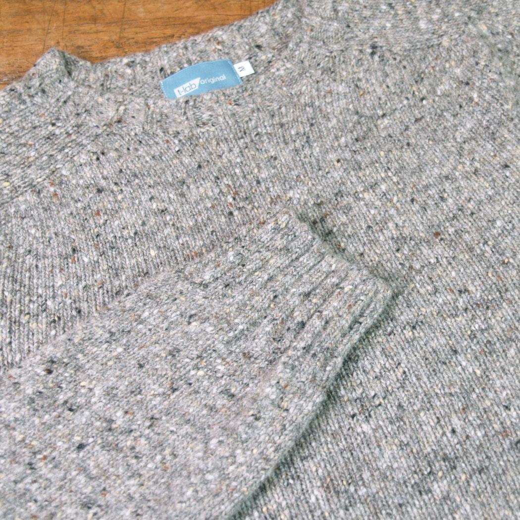 T-lab Coll Granite mens knitwear grey