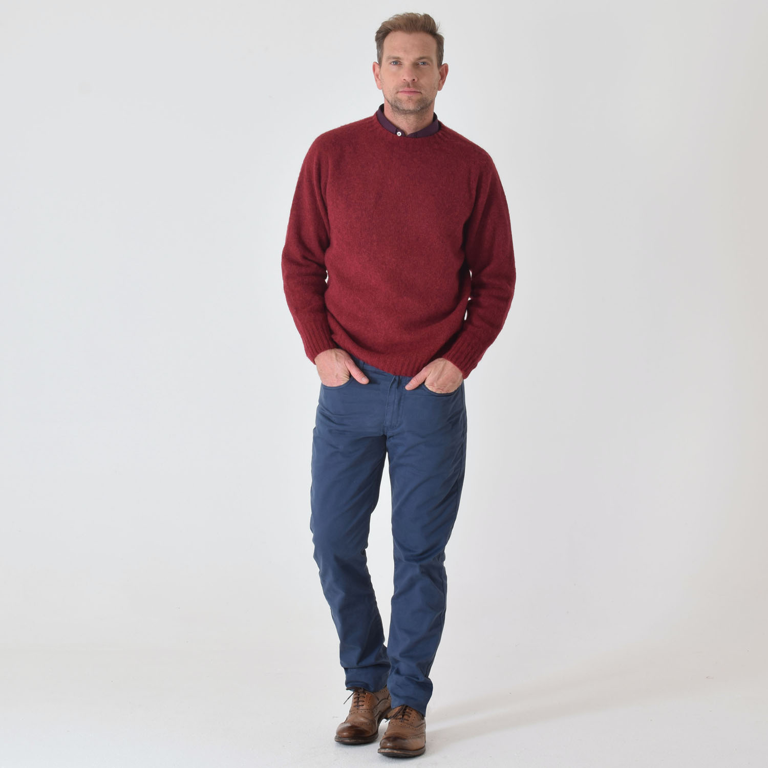 T-lab-coll-brushed -red mens-knitwear