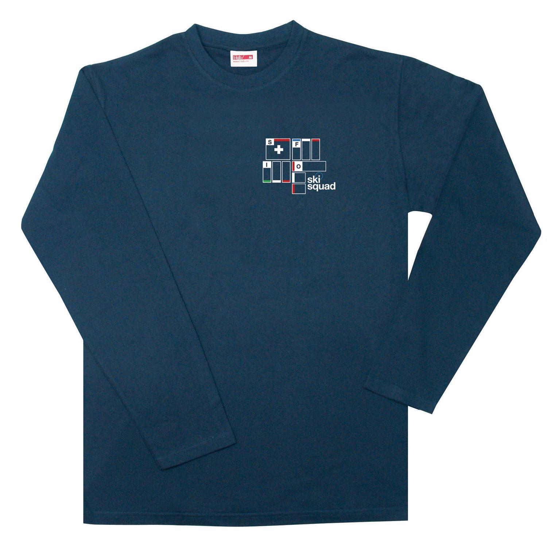 T-Lab Ski Squad mens longsleeve t-shirt navy