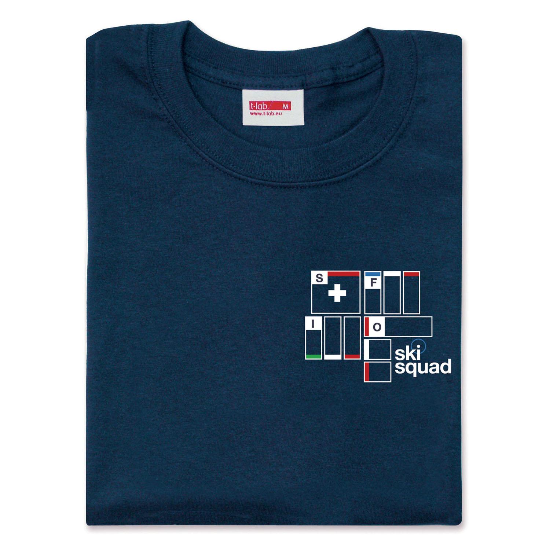 T-lab Ski Squad mens t-shirt folded
