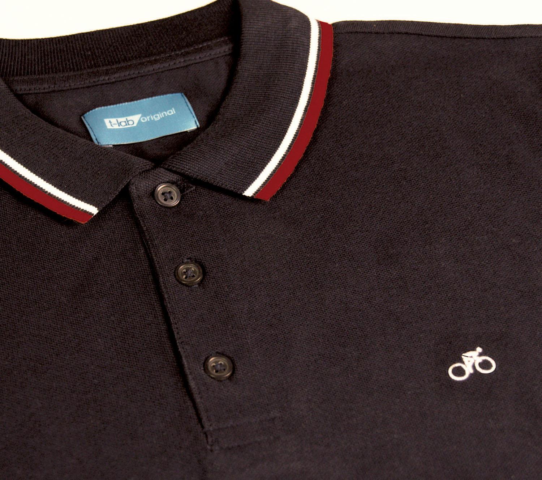 T-lab mens VeloPolo polo shirt black