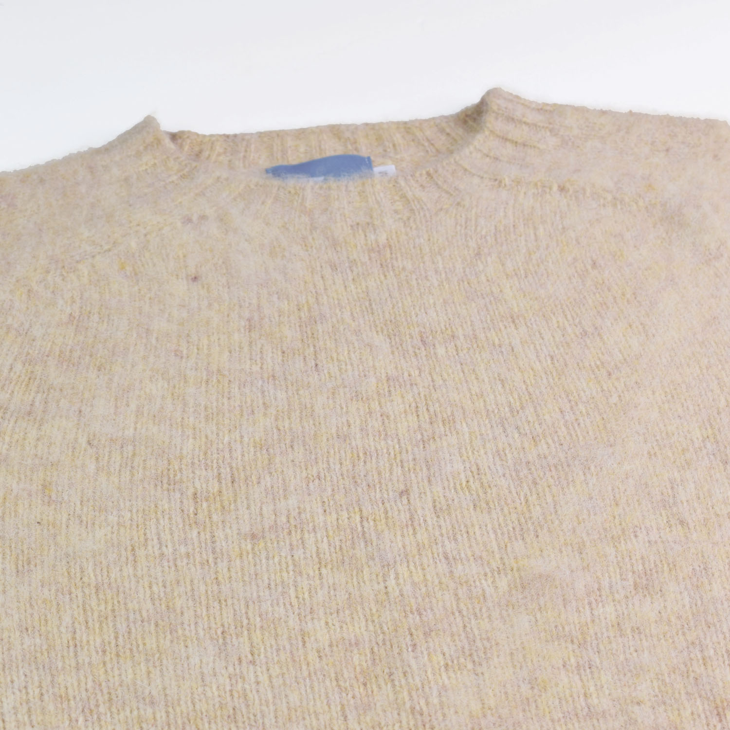 T-lab Coll mens knitwear brushed sand