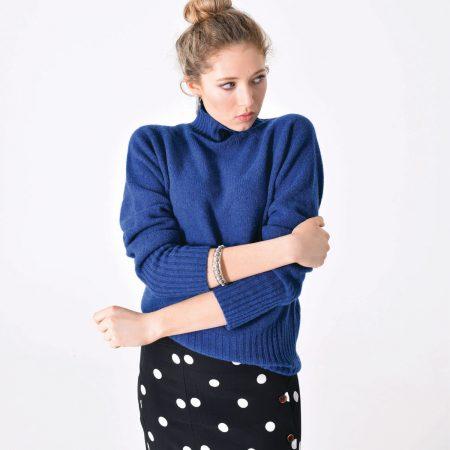 T-lab Skye womens knitwear indigo