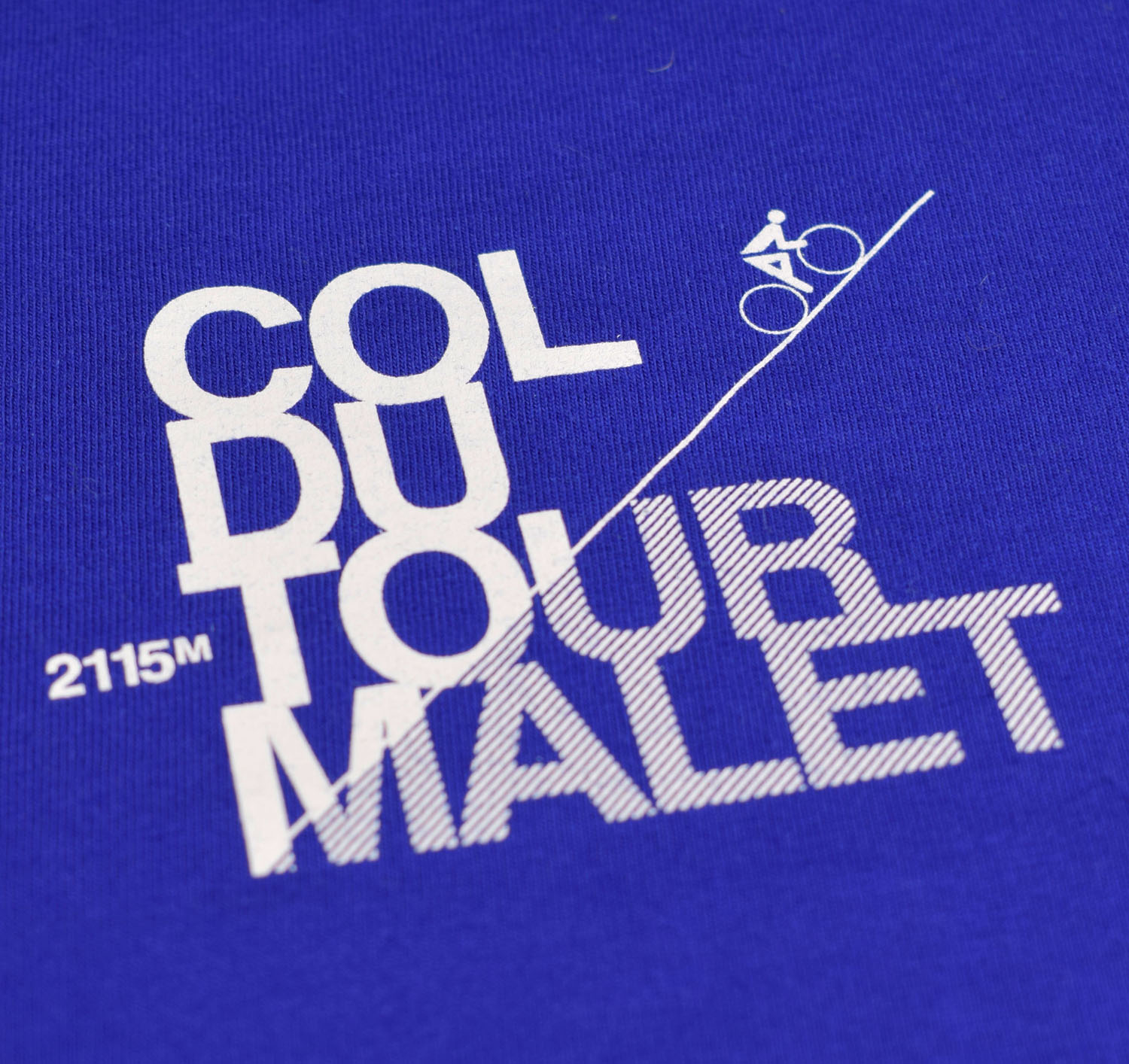 T-lab Tourmalet mens t-shirt blue chest