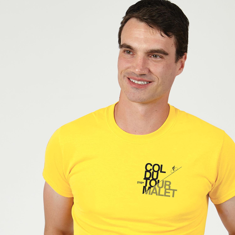 T-lab Tourmalet mens t-shirt yellow model square