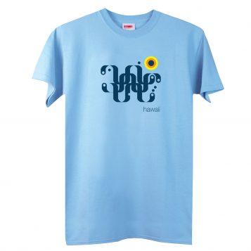 T-lab-Hawaii-mens-t-shirt-blue