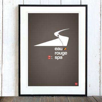 T-lab-Eau-Rouge-motorsports-A3-poster-framed